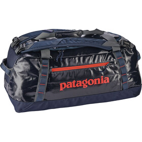Patagonia Black Hole Duffel Bag 60 L Navy Blue W/Paintbrush Red